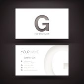 """Business Card template with the letter """"A"""" on white background."""