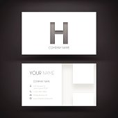 Business Card Template - with letter