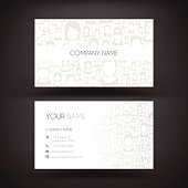 Business Card template with people on white background.
