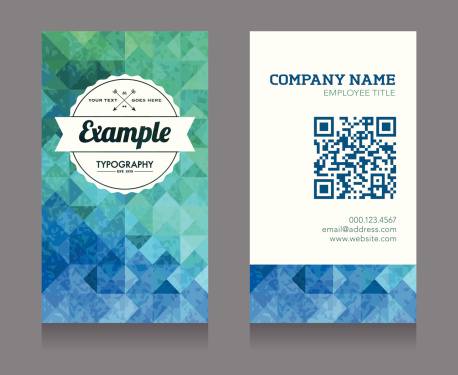 Business Card Template with QR Code
