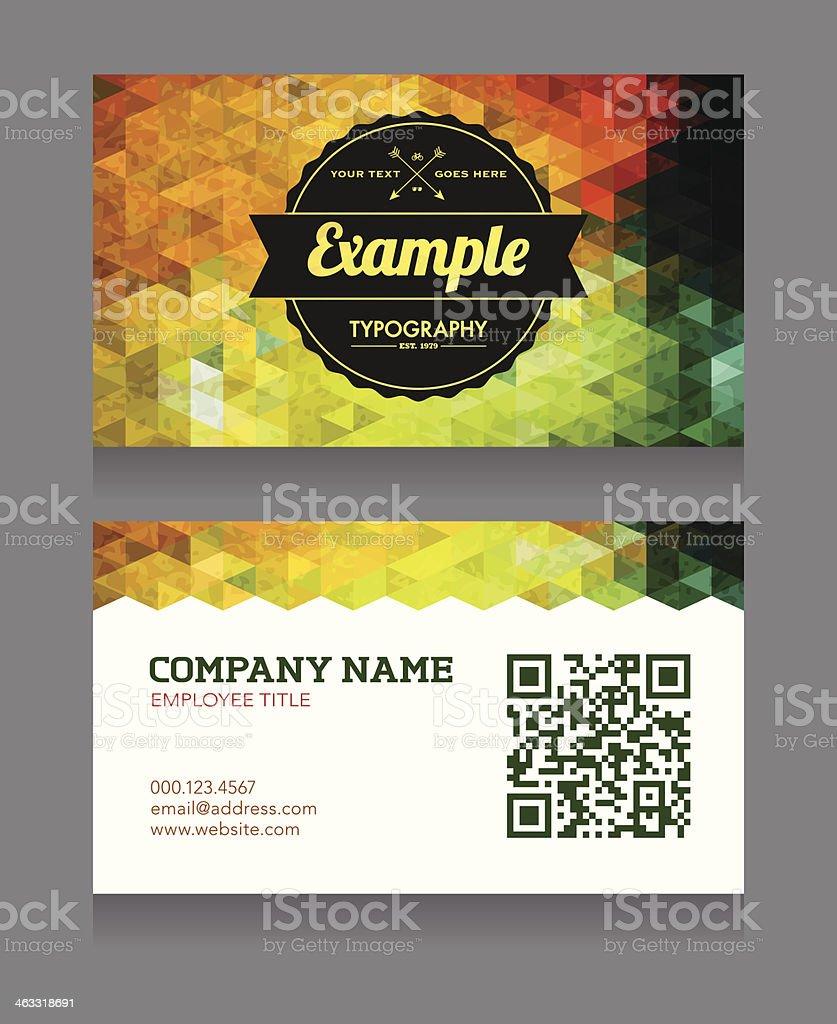Modle De Cartes Visite Avec QR Code Qr
