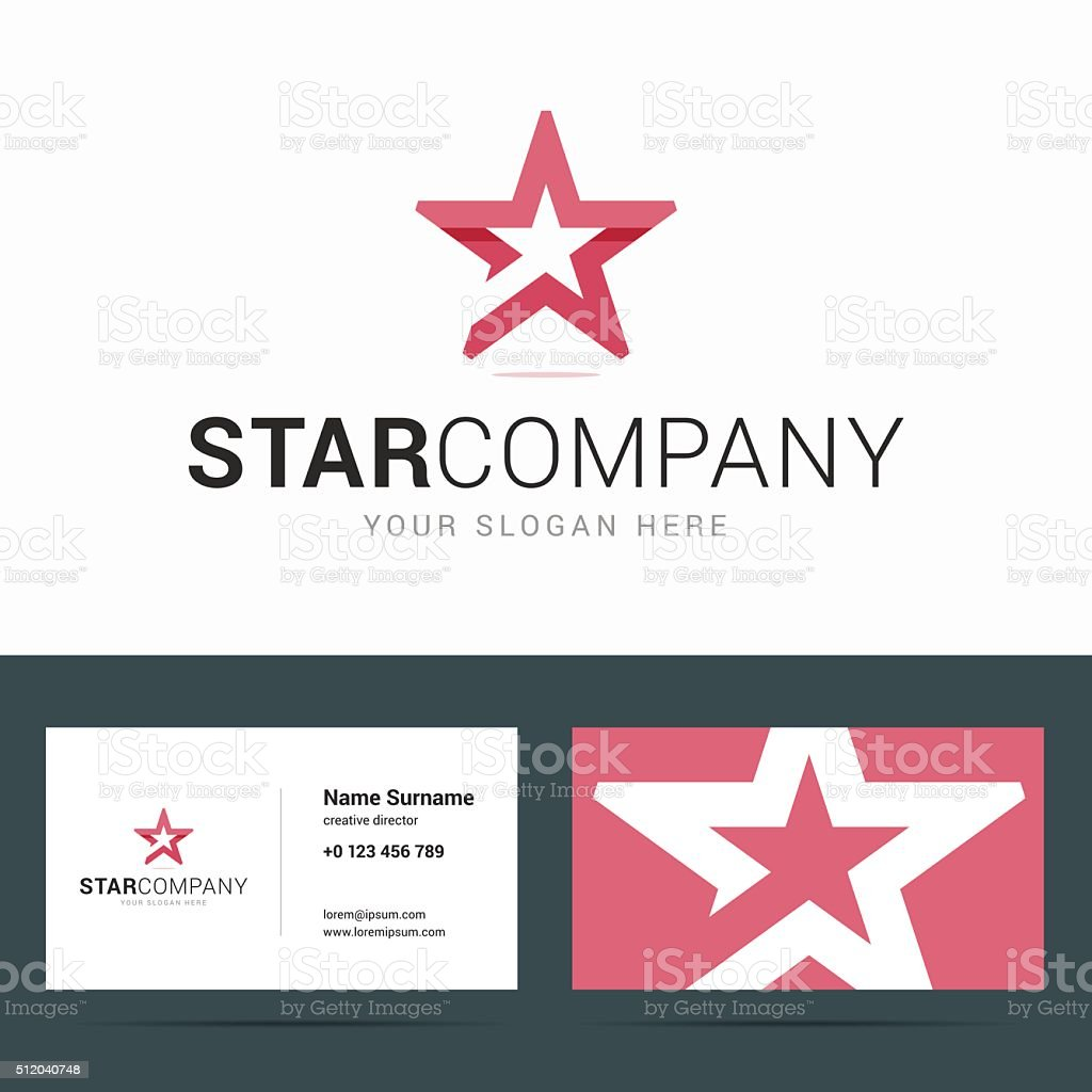 Nice star business cards contemporary business card ideas business card template with star shape stock vector art more reheart Choice Image