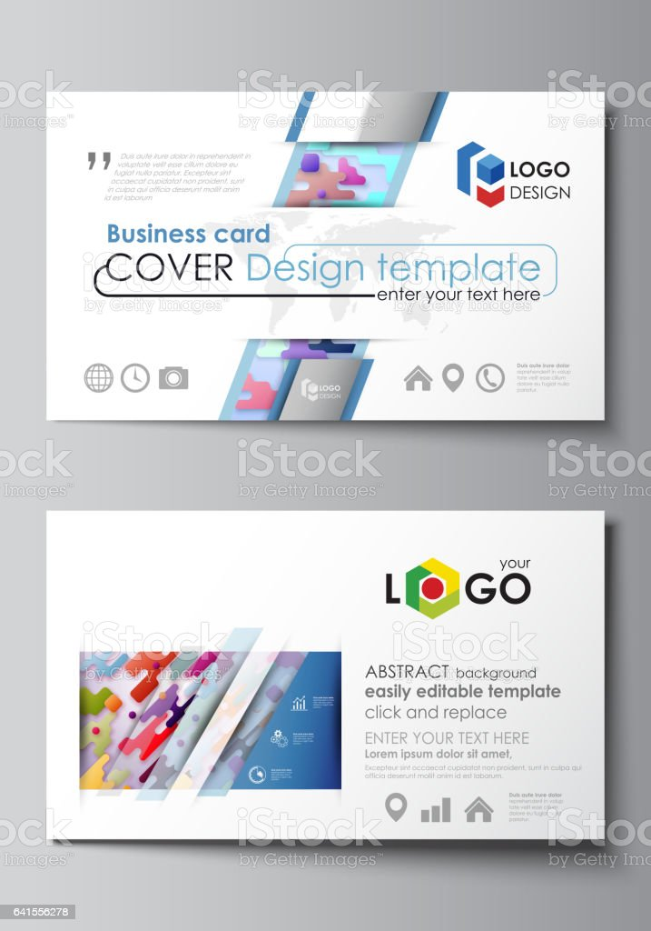 Business Card Templates Abstract Vector Design Layouts Bright ...