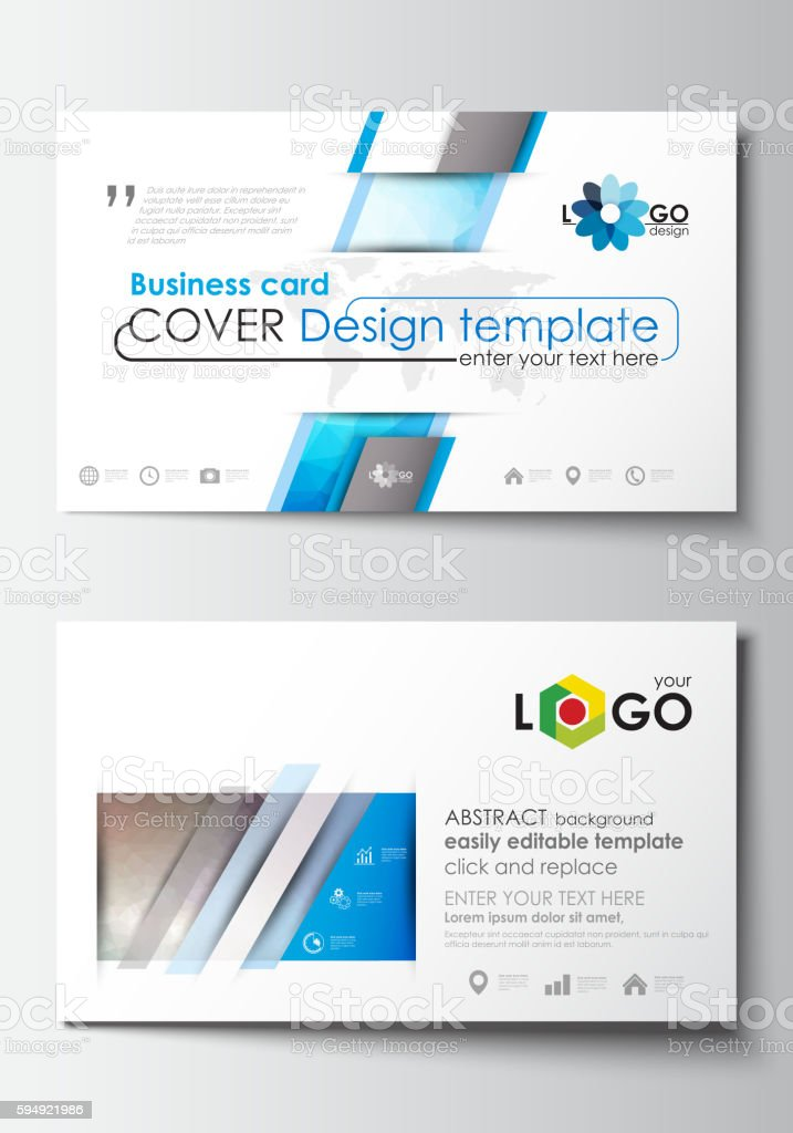 Business card templates cover design template easy editable blank business card templates cover design template easy editable blank flat vetor e ilustrao reheart Image collections
