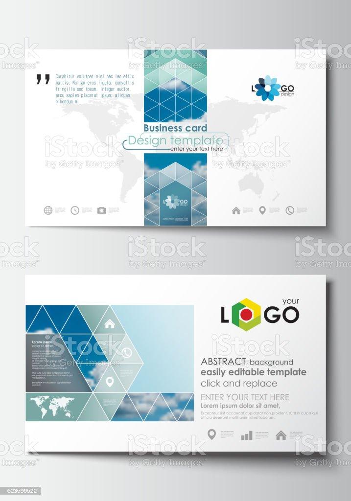 Visitenkarte Vorlagen Cover Designvorlage Leicht Bearbeitbar
