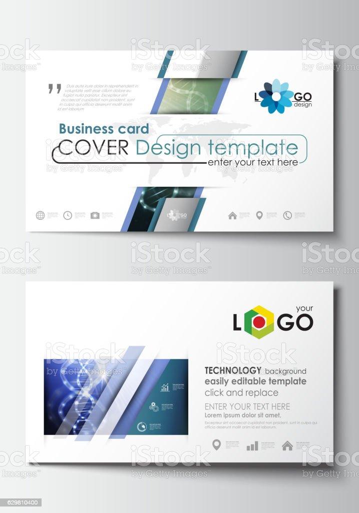 Visitenkarte Vorlagen Cover Designvorlage Leicht Bearbeitbar Leere Abstrakte Stock Vektor Art Und Mehr Bilder Von Atom