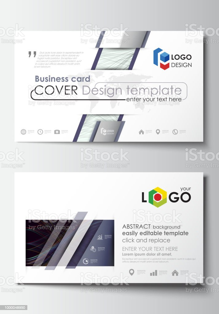 Business Card Templates Cover Template Easy Editable Vector Flat ...