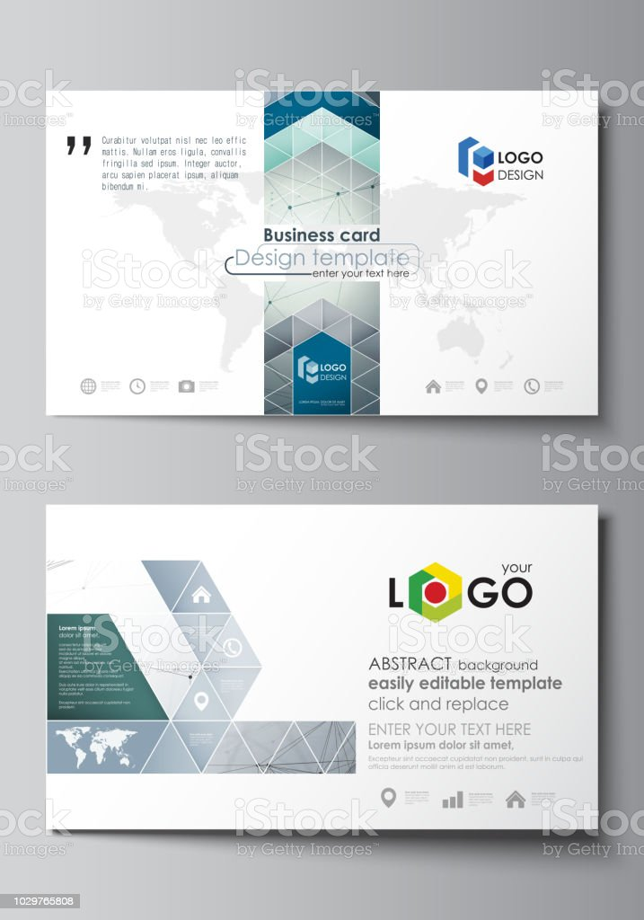 Business card templates easy editable layout abstract vector design business card templates easy editable layout abstract vector design template genetic and chemical fbccfo Choice Image