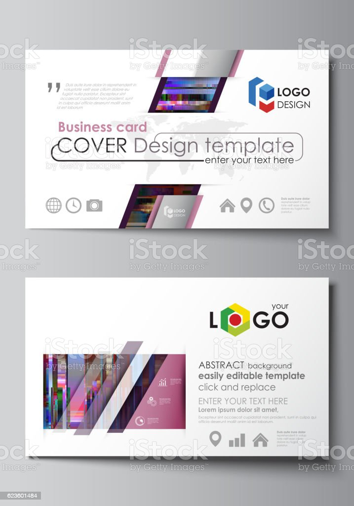 business card templates easy editable layout abstract vector design