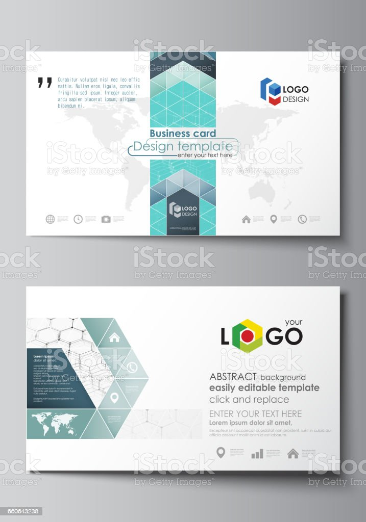 Business Card Templates Easy Editable Layout Abstract Vector ...