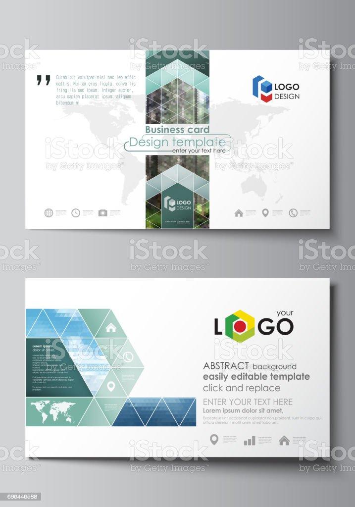 Visitenkartenvorlagen Einfach Bearbeitbar Layout Abstraktes ...