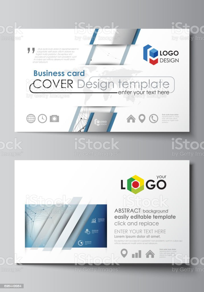 Business card templates easy editable layout abstract vector design business card templates easy editable layout abstract vector design template geometric blue color flashek Images