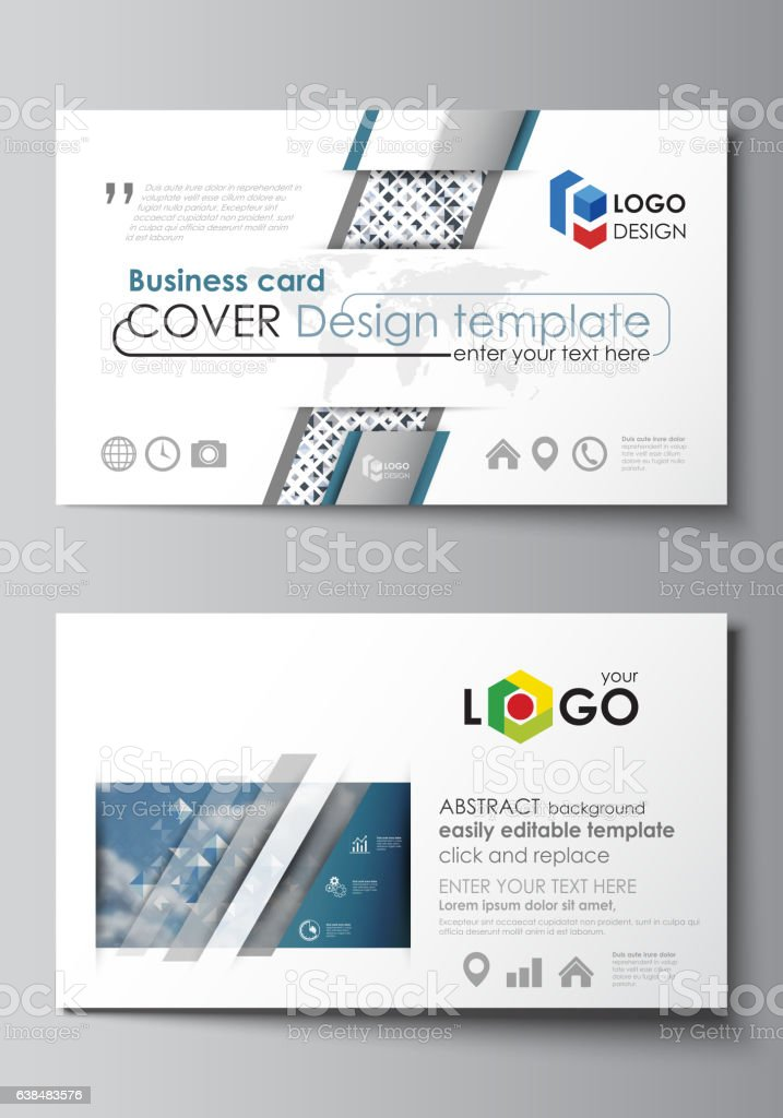 Business card templates easy editable layout flat style template business card templates easy editable layout flat style template blue royalty free friedricerecipe Gallery