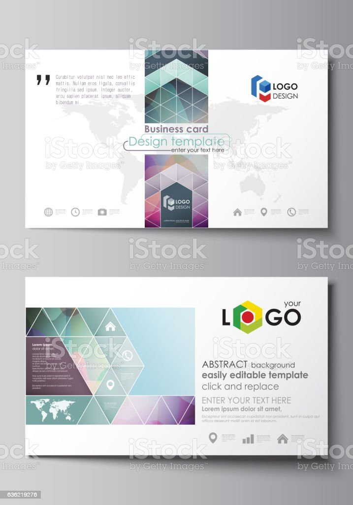 Ilustrao de business card templates easy editable layout flat business card templates easy editable layout flat style template vector ilustrao de business reheart Gallery