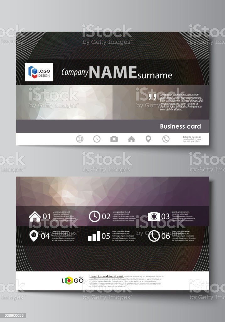 Ilustrao de business card templates easy editable layout vector business card templates easy editable layout vector design template dark ilustrao de business reheart Gallery