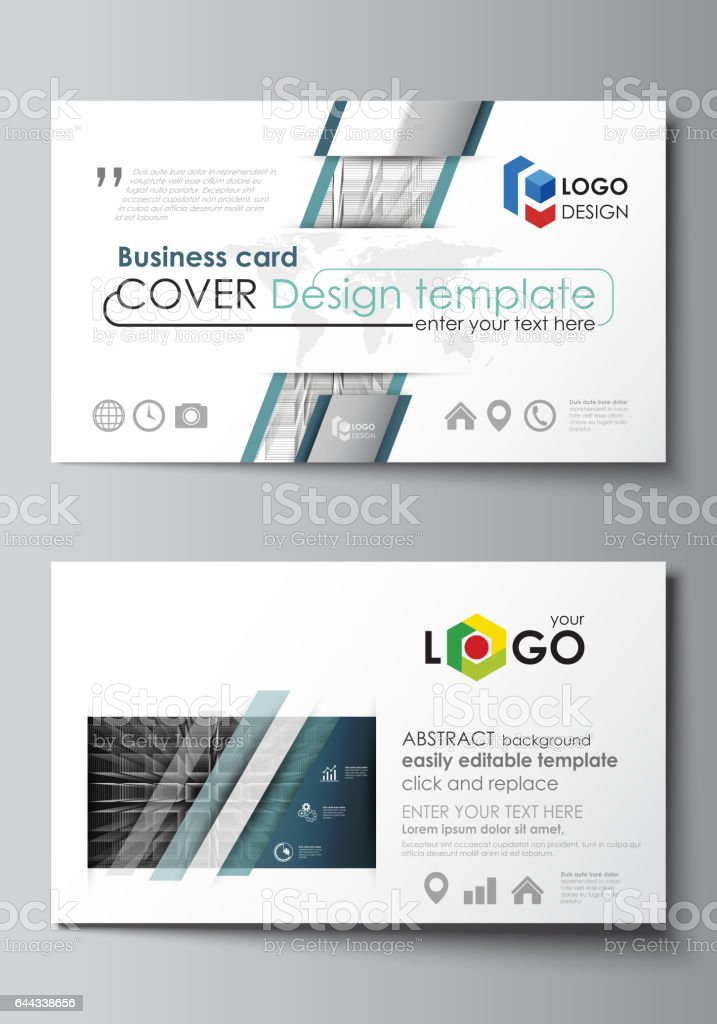 business card templates easy editable layout vector design template