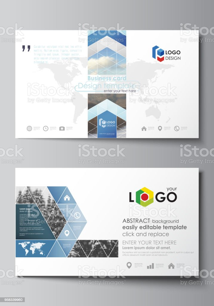 Business card templates easy editable layout vector design template business card templates easy editable layout vector design template abstract landscape of nature wajeb Images
