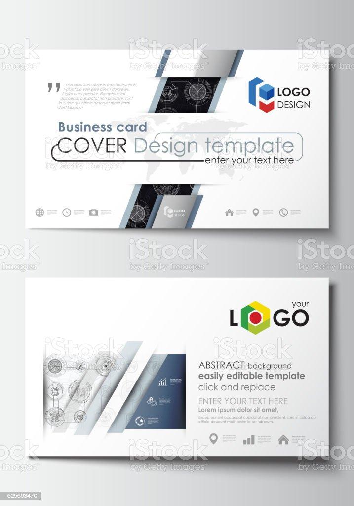 Ilustrao de business card templates easy editable layouts flat business card templates easy editable layouts flat style template vector ilustrao de business reheart Gallery