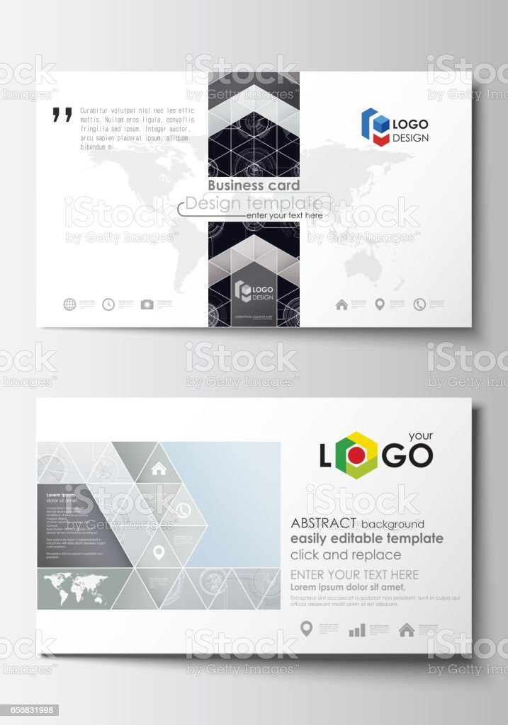 Business Card Templates Easy Editable Layouts Flat Style Template ...