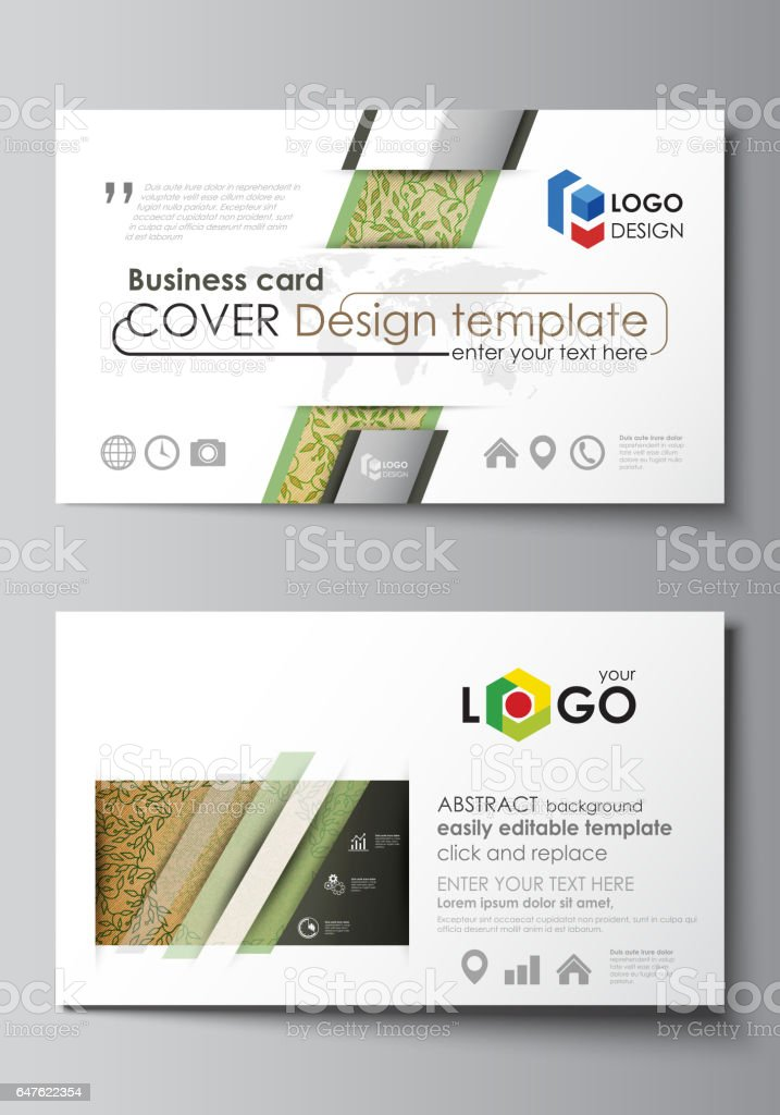 Business Card Templates Easy Editable Layouts Vector Template ...