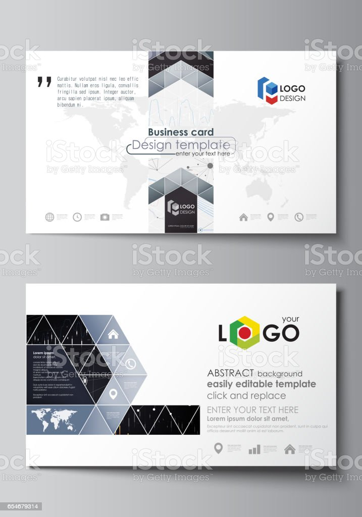 Business card templates easy editable vector layout abstract design business card templates easy editable vector layout abstract design infographic background in minimalist style reheart Images