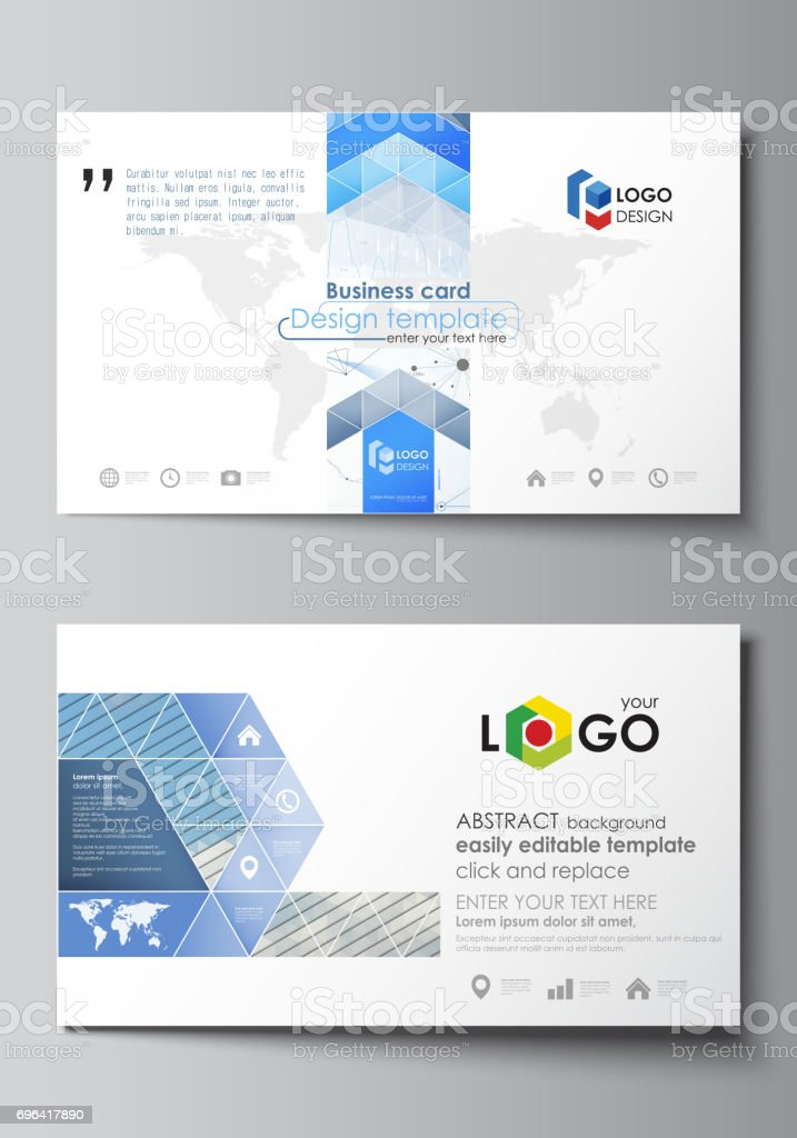 Business card templates easy editable vector layout blue color business card templates easy editable vector layout blue color abstract design infographic background in wajeb Images