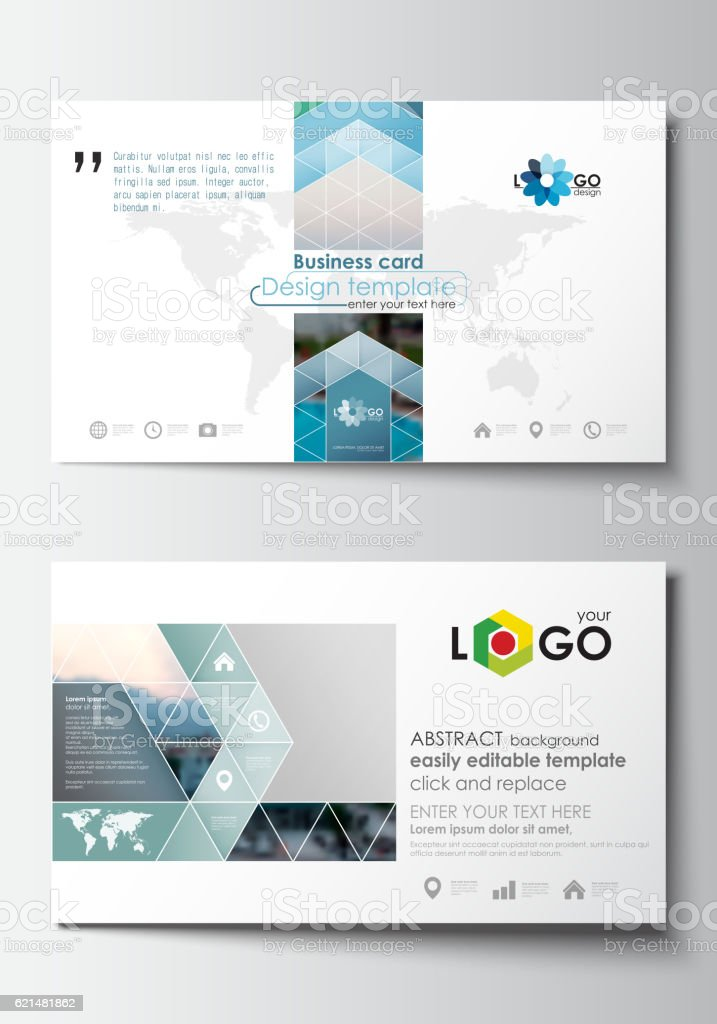 Business card templates flat design blue color travel decoration business card templates flat design blue color travel decoration layout royalty free business card accmission Image collections