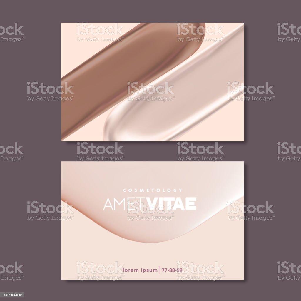 Modeles De Carte Visite Pour Maquilleuse Des Couleurs Pastel Et Textures Liquides
