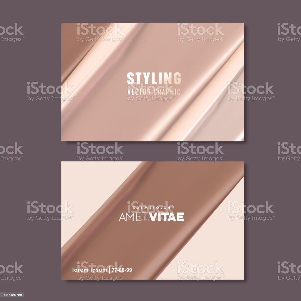 Business card templates for makeup artist skin tone liquid textures business card templates for makeup artist skin tone liquid textures cosmetic or beauty vector colourmoves