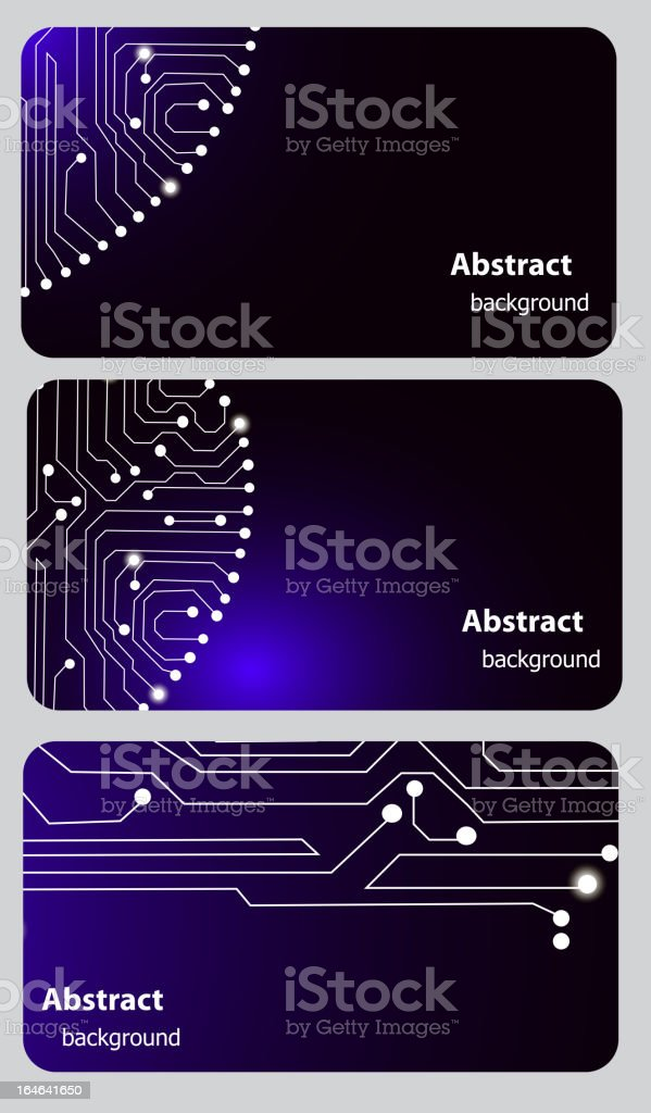Business Card Templates With Circuit Board stock vector art ...