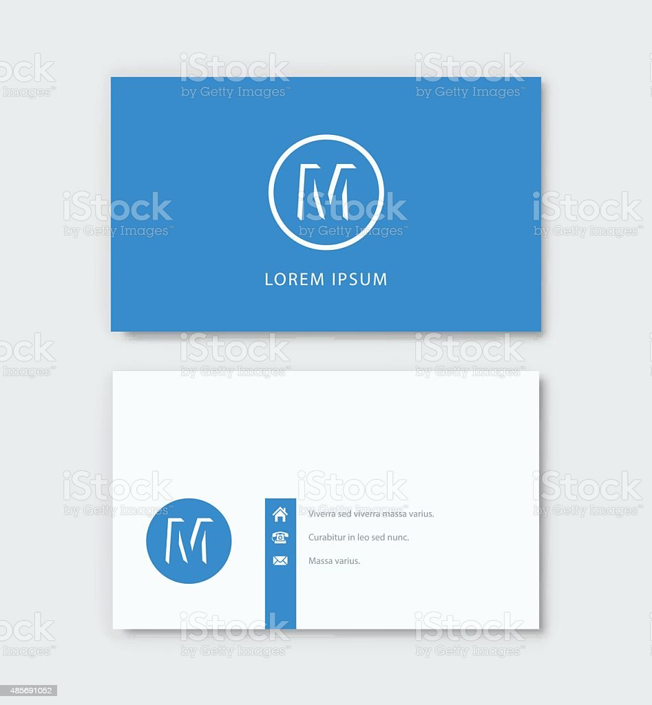 Business card vector art illustration