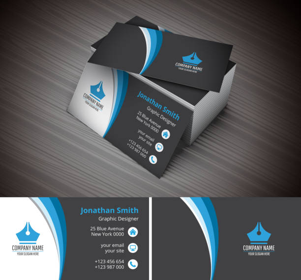 illustrations, cliparts, dessins animés et icônes de carte de visite - business card mock up