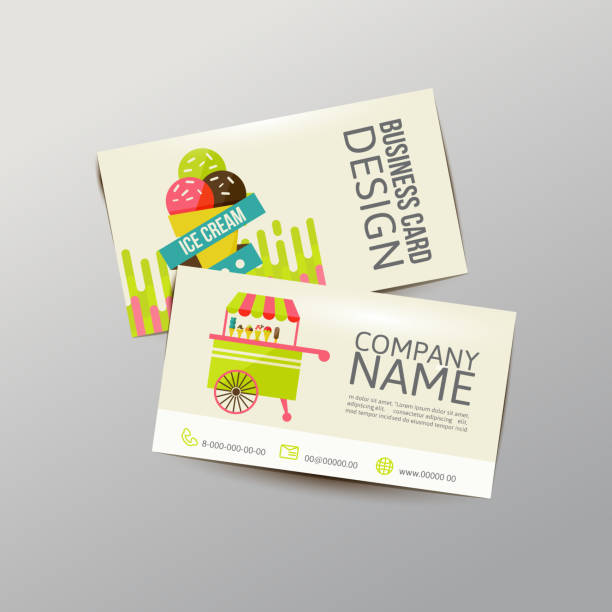 Royalty free ice cream business cards clip art vector images business card vector art illustration colourmoves