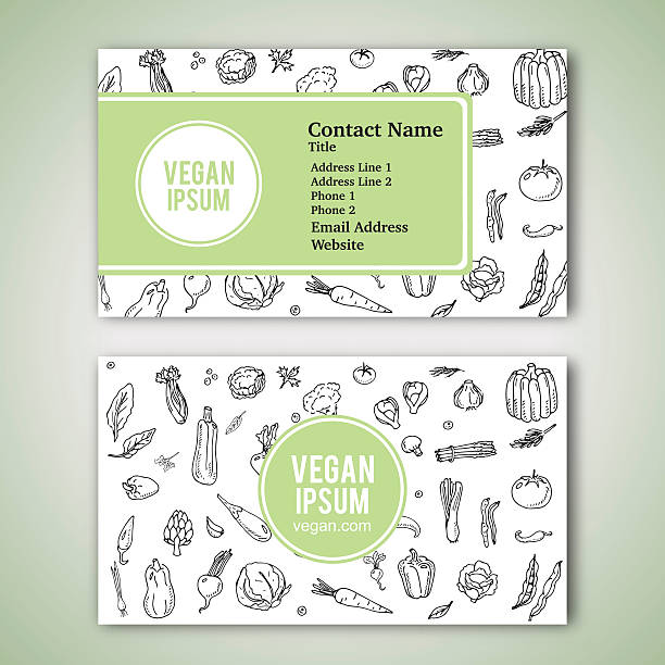 Royalty Free Weight Loss Business Cards Clip Art Vector Images