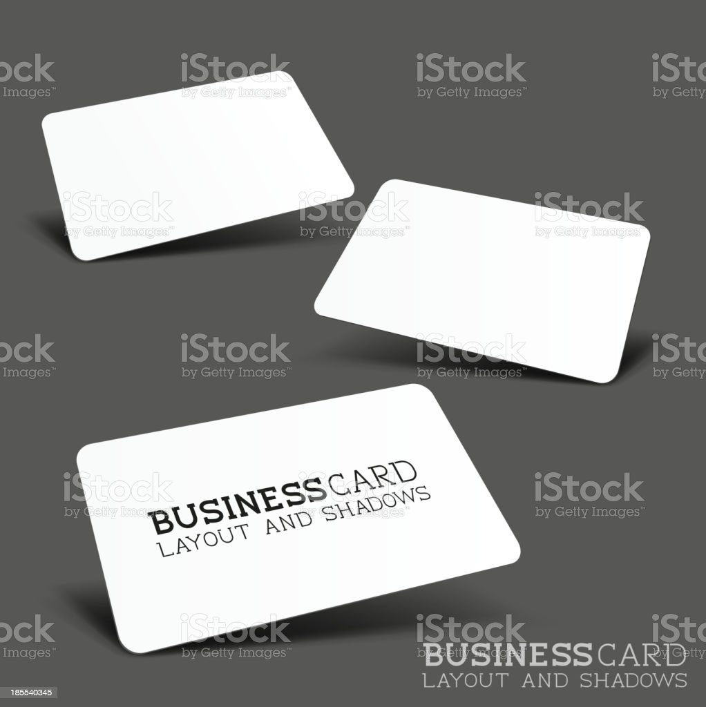 Business Card Vector Layout royalty-free stock vector art