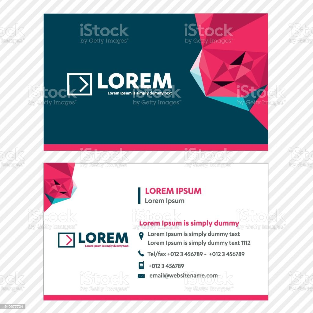 Business Card Vector Template Tech Link Network Visiting Card ...