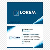 Business card Vector Template, Tech  Link Network, Visiting Card Corporate Identity