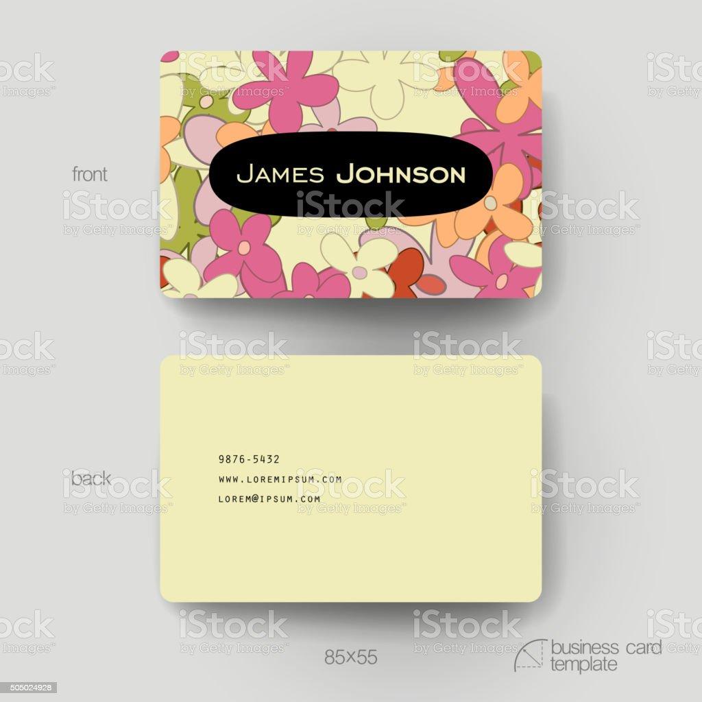 Modle De Carte Visite Vecteur Avec Floral Abstrait