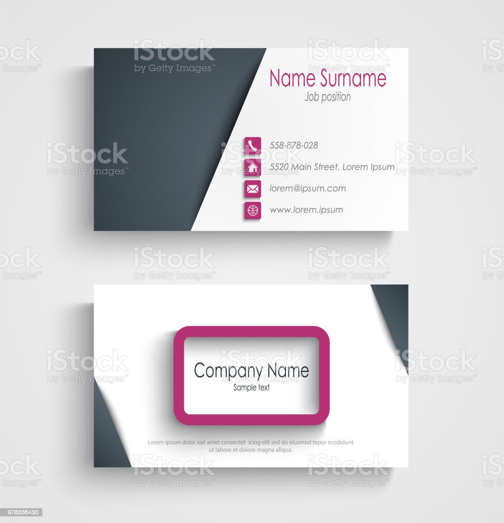 Business card with abstract frame design element stock vector art business card with abstract frame design element royalty free business card with abstract frame design colourmoves