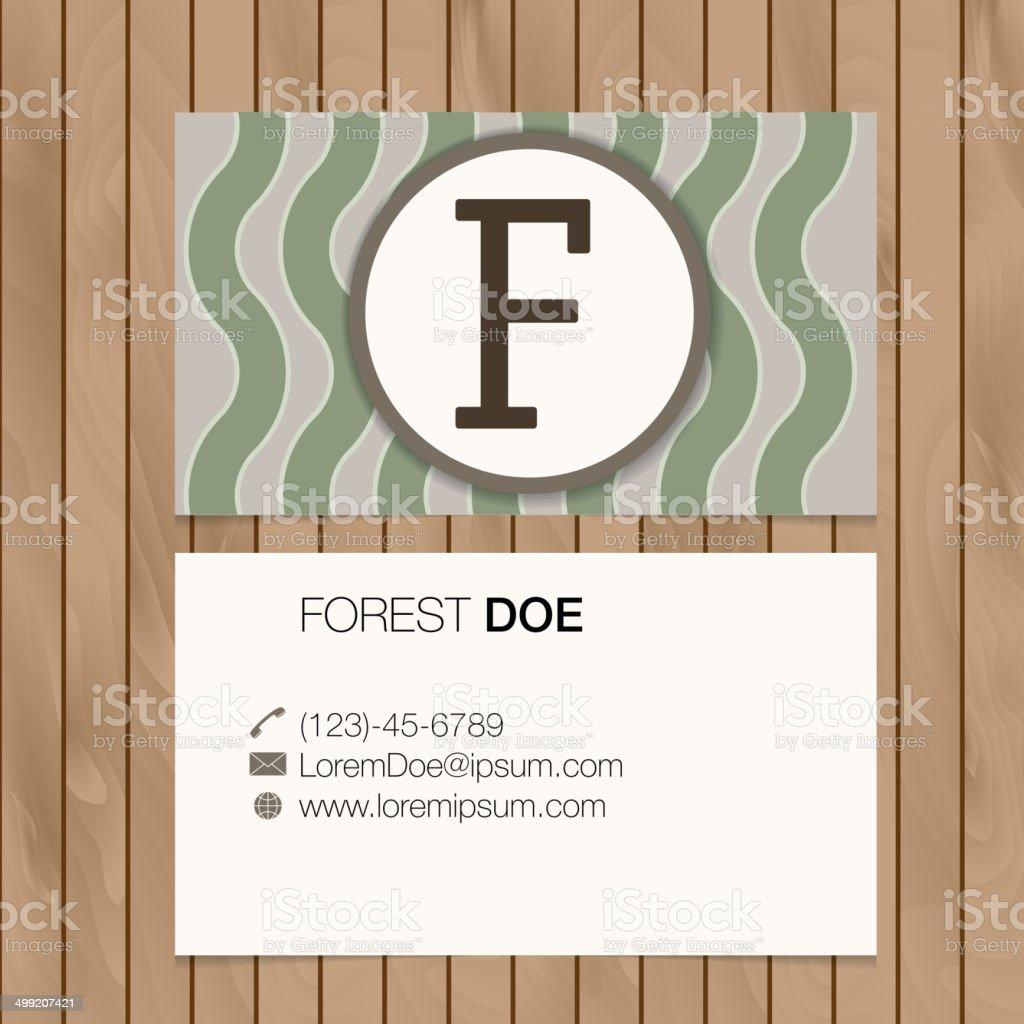 Carte De Visite Avec Alphabet Lettre Sur Un Fond En Bois