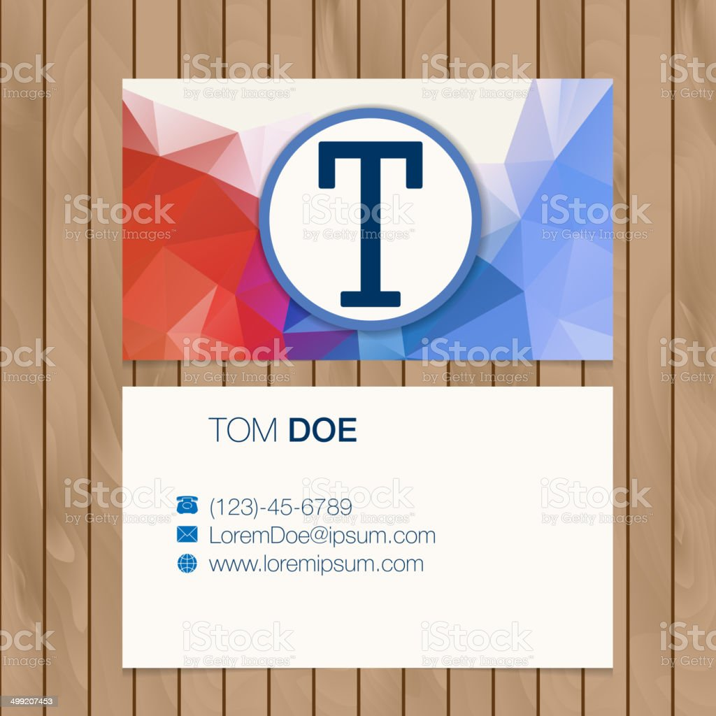 Business card with alphabet letter on a wood background royalty-free business card with alphabet letter on a wood background stock vector art & more images of abstract
