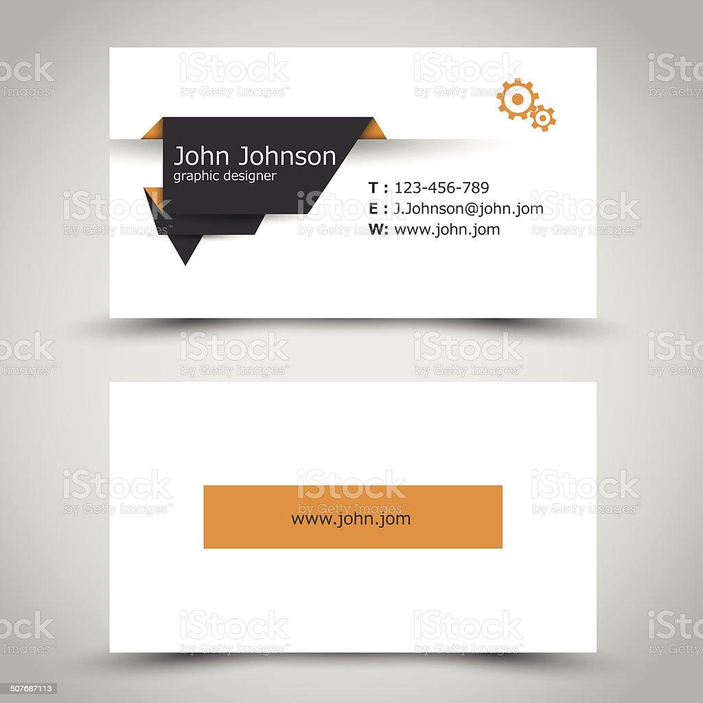 Carte De Visite Avec Autocollant Papier Fonc Cliparts