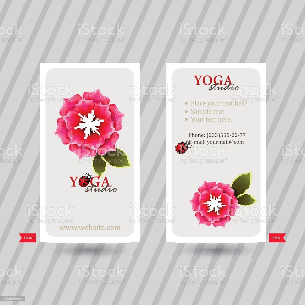 Business card with naturalistic floral composition stock vector art beauty spa cherry blossom flower spa studio business card colourmoves