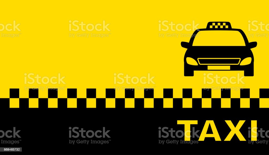 Visitenkarte Mit Taxi Stock Vektor Art Und Mehr Bilder Von