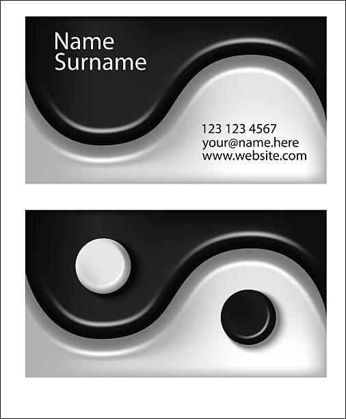 Business Card Yin Yang Symbol Stock Vector Art More Images Of 2015