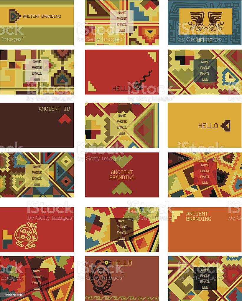 Visitenkarten Alte Hintergrund Stock Vektor Art Und Mehr