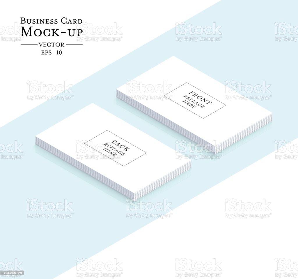 Visitenkarten Leer Mockup Vorlagevektordesign Stock Vektor