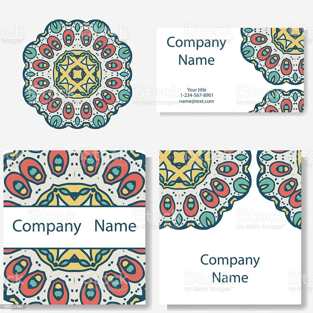 Collection De Cartes Visite Decoration Pour Votre Conception Mandala Dentelle