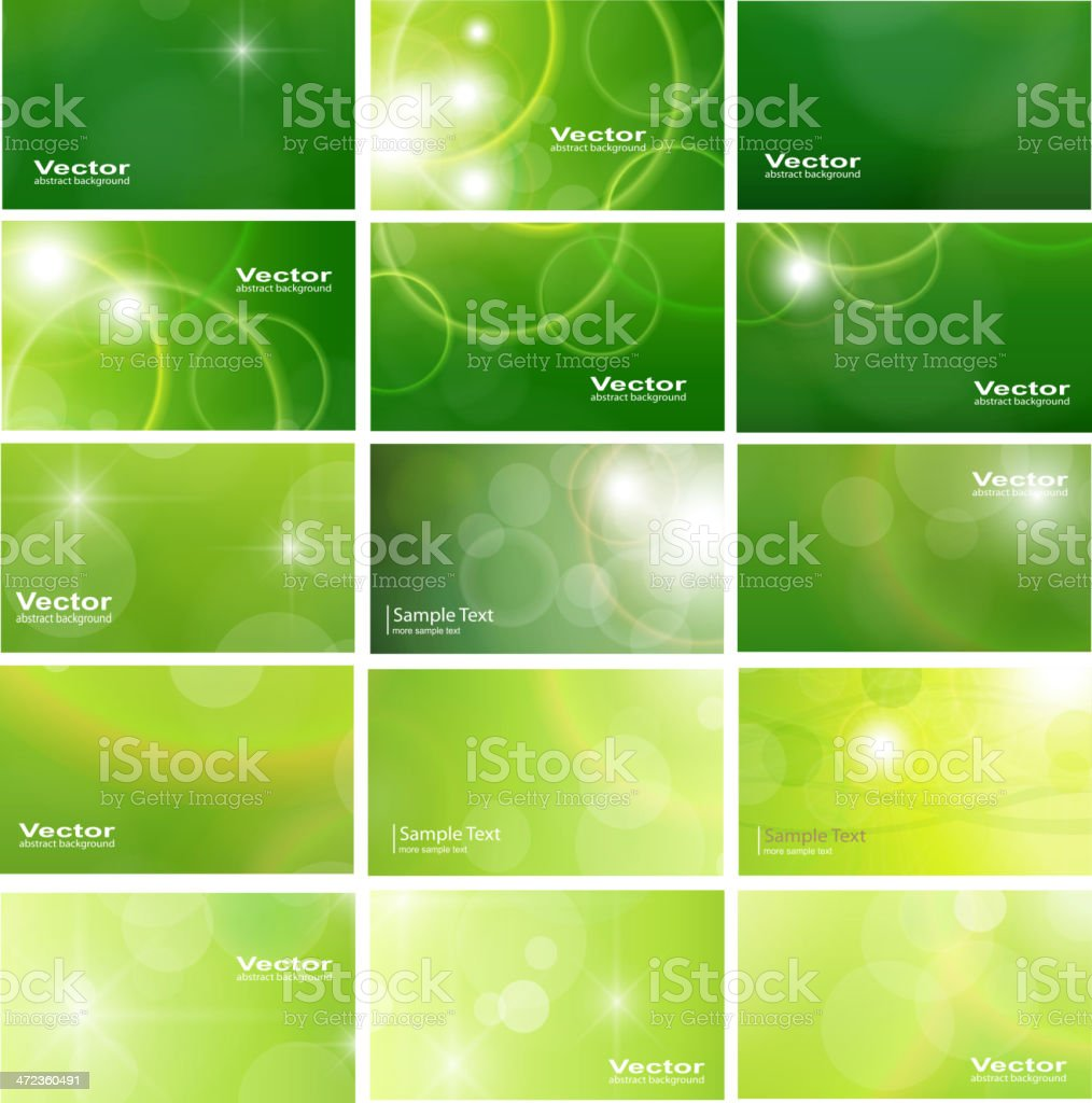 Business cards collection royalty-free stock vector art