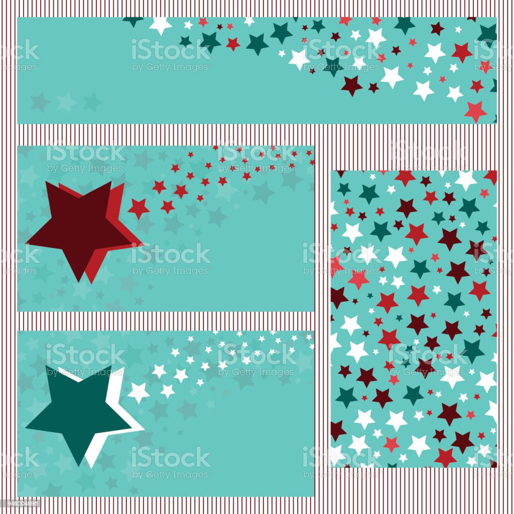 Business cards collection with stars business card template stock business cards collection with stars business card template royalty free business cards collection reheart Images
